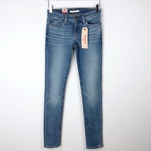 Levi's 711 Skinny Jeans Mid Rise Size 25